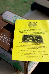 Boxed goods · The South Central Farmers organization currently offers boxes of organic food for students to pick up at the JEP House. - Joseph Chen | Daily Trojan
