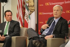 Reflection · MSNBC host and author Chris Matthews and former Gov. Arnold Schwarzenegger looked back on their experiences in politics and recommended ways to increase bipartisanship on Friday evening. - Corey Marquetti | Daily Trojan