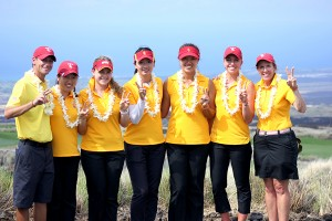 Perfection · The USC women's golf team extended its school-record seven-match winning streak on Tuesday with a one-stroke victory at the Nanea Golf Club in Kailua Kona, Hawaii for the Pac-12 Preview. - Courtesy of USC Sports Information