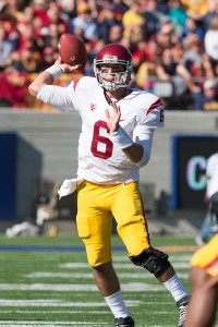 Rock steady · Redshirt sophomore quarterback Cody Kessler has been consistent this season, with 12 touchdowns and only six interceptions. - Ralf Cheung | Daily Trojan