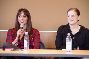 """Initiative for civic participation · On Friday, panelists from the """"Lean In"""" event discussed the importance of encouraging women to participate in politics and student government at the Ronald Tutor Campus Center. - Austin Vogel 