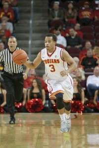 Fresh face · Walk-on sophomore guard Chass Bryan had his first start of the year for the Trojans in their 95-79 win over Cal State Northridge. - Corey Marquitti | Daily Trojan