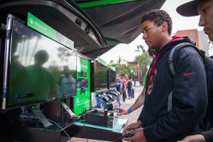 The One · The Xbox One Test Drive Tour made a stop at McCarthy Quad on Monday to give students and visitors an opportunity to try the newest installment in the Xbox line before its release on Nov. 22. - Ralf Cheung | Daily Trojan