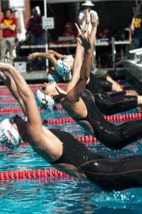 Starting gun · Last year, the Women of Troy won the Texas Invitational when it was called the USA Swimming Winter National Championships. - William Ehart | Daily Trojan