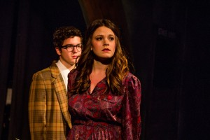 Beth (Jennifer Kranz) looks away into the audience in her role in Merrily We Roll Along. - Photo courtesy of USC's Massman Theater