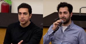 Swipe Right · Tinder co-founders Sean Rad (left) and Justin Mateen (right) returned to their alma mater to discuss their popular app. The creators encouraged students to take advantage of their college experiences. - Nick Entin | Daily Trojan