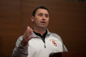 Fresh faces · Steve Sarkisian brought five assistants with him from Washington. The Huskies were 0-12 the year before Sarkisian arrived. - Ralf Cheung | Daily Trojan