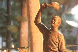 Winning tradition · Rod Dedeaux amassed 1,342 wins and a record 11 national titles as the head coach of the USC baseball team from 1942 to 1986. USC unveiled a statue honoring Dedeaux before Sunday's game. - Corey Marquetti | Daily Trojan