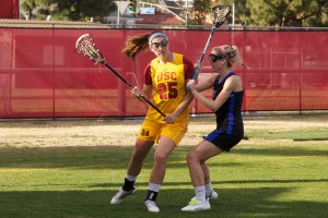 Leading the charge · Sophomore midfielder Caroline de Lyra led USC with 51 goals last season, its first year as a Division I program. The team added a top-10 recruiting class to its already-strong roster going into 2014. - Ralf Cheung | Daily Trojan