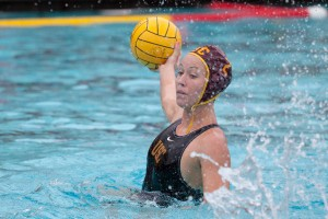 Take the lead · Senior two-meter Colleen O'Donnell scored six goals throughout the four games of the UCI Invitational, including two goals in the championship game against UCLA, which put USC ahead 5-3. - Ralf Cheung | Daily Trojan