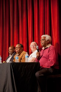 Heroics · The panelists discussed Mulholland's role throughout the Civil Rights Movement during the event which took place Wednesday night. - Ralf Cheung | Daily Trojan