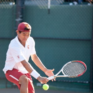 Wild one · Senior captain Ray Sarmiento earned a qualifying wild card berth to the BNP Paribas Open at Indian Wells this weekend. - Ralf Cheung | Daily Trojan