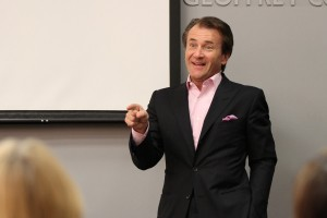 Shark bite · Shark Tank's Robert Herjavec, CEO and president of the Herjavec Group, spoke to students about his 'journey to success' in the USC Annenberg School for Communication and Journalism on Thursday. - Corey Marquetti | Daily Trojan