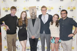Paper planes · The Origami Team at the 18th Best Editing and Audience Choice Awards. From left to right, Keenan Mosimann, Amber Laird, Daniel Moya, Carter Feuerhelm, Elana Zeltser and Rick Cisario. - Photo courtesy of The Origami Team