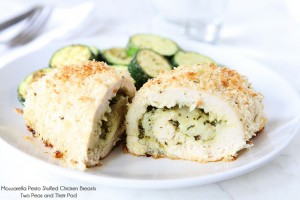 """Hey, ho, pesto! · Blogs are a great place to look for recipe inspiration when dealing with leftovers. Take, for example, a mozzarella pesto-stuffed chicken breast from the blog """"Two Peas and Their Pod"""" (pictured).  - Photo courtesy of Two Peas and Their Pod"""