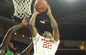 Bowing out · Junior guard Byron Wesley scored a game-high 23 points in USC's loss to Colorado, which knocked USC out of the Pac-12 Tournament. - Ricardo Galvez | Daily Trojan