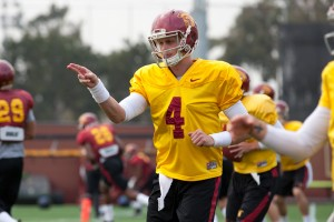 Chasing the dream · Redshirt freshman Max Browne is entering the 2014 season with hopes of landing the starting quarterback position. Browne's competition is incumbent starter Cody Kessler, a redshirt junior. - Ralf Cheung   Daily Trojan