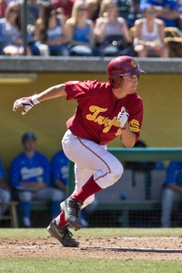 Field general · Junior catcher Garrett Stubbs is one of six Trojans to have started every game this season. He is batting .275 in his 14 starts. - Joseph Chen | Daily Trojan