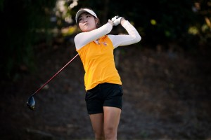 First-time winner · Freshman Karen Chung took home her first individual collegiate victory with an 8-under 208 at the SDSU Farms Invitational at the Farms C.C. in Rancho Sante Fe, Calif. on Wednesday. - Courtesy of USC Sports Information