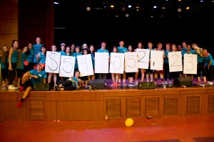 Dance for a cause · The Trojan Dance Marathon planning committee holds up the final fundraising total raised in the past year. - Austin Vogel | Daily Trojan