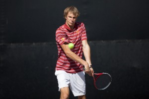 Vroom vroom · Sophomore Max de Vroome battled back to win his singles match against San Diego State's Hunter Nicholas by a score of 6-4, 5-7, 1-0 (10-2). No. 100 de Vroome also picked up a doubles win. - Ralf Cheung | Daily Trojan