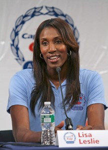 Giving back · Lisa Leslie was named to four All-Pac-10 teams during her time at USC. Leslie went on to be named MVP of the WNBA three times. - Courtesy of Capital One