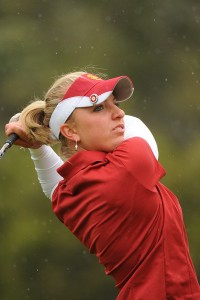 In the hunt · Senior Sophia Popov, USC's all-time leader in rounds in the 60s, is in 20th place at the Bruin/Wave Invitational after 36 holes. - Courtesy of USC Sports Information