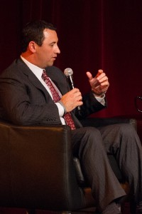 A Sark contrast · New head coach Steve Sarkisian will have to find new ways to create hype around USC football after a tumultuous 2013.   Austin Vogel | Daily Trojan