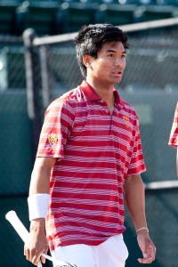 Team effort · Senior captain Ray Sarmiento dropped back-to-back singles matches this weekend, but the Trojans still earned two victories. - Ralf Cheung   Daily Trojan