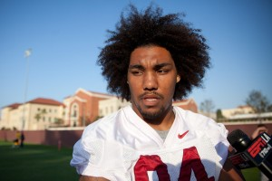 Elder statesman · Junior defensive end Leonard Williams figures to be the key cog in the Trojans' young defensive line. Williams recorded 74 tackles (13.5 of them for loss) last year on his way to All-American season. - Ralf Cheung | Daily Trojan