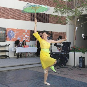 Dance at the museum · Kristal Ha, a junior majoring in biochemistry, performs at the Festival of Arts, which took place on March 8. - Christine Yoo | Daily Trojan