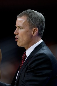 No dancing · USC head coach Andy Enfield led Florida Gulf Coast to the NCAA Tournament in 2013, but could not to translate that success to USC. - Ralf Cheung | Daily Trojan