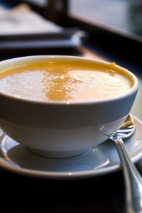 Ginger carrot soup. – Photo courtesy of Robyn Lee