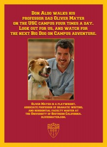 More soup, sir · Oliver Mayer is a USC associate professor, resident faculty advisor, playwright and dog enthusiast who lives on campus.  - Photo courtesy of Oliver Mayer