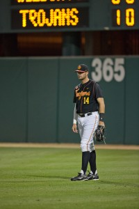 Light 'em up · Sophomore outfielder Vahn Bozoian leads the Trojans with three home runs this season as well as a .269 batting average in his 30 appearances for USC. Last season, he averaged .224 and hit two home runs. - Ralf Cheung | Daily Trojan
