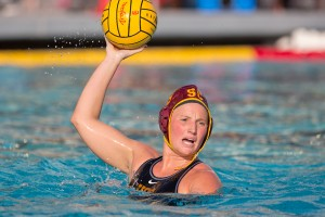 Final stand · Senior two-meter Kaleigh Gilchrist is entering her final MPSF Tournament with USC today. The Newport Beach, Calif. native, who serves as co-captain, has netted 137 goals in her four years at USC. - Ralf Cheung | Daily Trojan