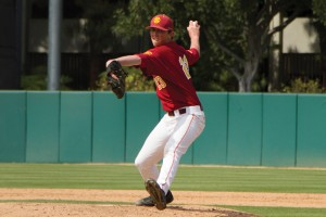 Throwing heat · Sophomore RHP Brooks Kriske will start for USC  tonight. Kriske boasts a 3.68 ERA in his 10 appearances this season. - Tucker McWhirter | Daily Trojan