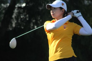 Lead the pack · Junior Doris Chen led USC women's golf in the Pac-12 Tournament, shooting a 1-under par, which earned her third place on the individual leaderboard. The top-ranked Women of Troy finished second. - Courtesy of USC Sports Information