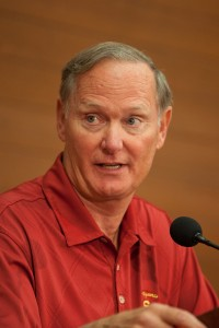Tense relationship · USC athletic director Pat Haden has criticized the NCAA for its alleged mishandling of USC football's recent sanctions. - Ralf Cheung | Daily Trojan