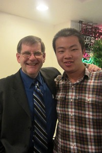 """Remembrance · James E.Moore (left) served as Haibo Zhang's (right) academic advisor and said he had an """"impact"""" on campus. - Photo courtesy of Professor Thomas Booth"""
