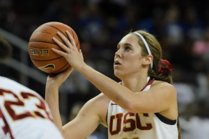 Chasing the dream · Senior forward Cassie Harberts, who served as team captain and led the Women of Troy in average minutes played (32.9) and blocks on the season (27), was drafted by the Atlanta Dream Monday night. - Benjamin Dunn | Daily Trojan