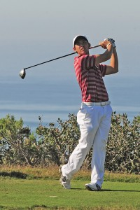 Young blood · Freshman Rico Hoey shot a team-best 4-under 206, earning him a share of the third spot on the individual leader board. - Courtesy of USC Sports Information