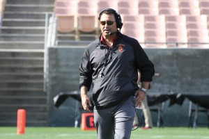 Man for the job · Steve Sarkisian spent seven seasons as an assistant at USC under Pete Carroll before leaving to coach at Washington in 2008. Many speculated that Sarkisian was Carroll's personal choice as a successor. - Austin Vogel | Daily Trojan