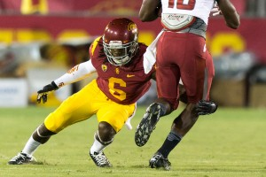 Valuable asset · USC redshirt senior defensive back Josh Shaw has sat out of most of the spring with injury. Shaw, a transfer from Florida, has recorded 119 tackles and 6 interceptions in his time at both schools. - Ralf Cheung | Daily Trojan