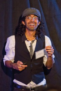 'How to experiment' · Raghav Bashyal, a senior majoring in interactive entertainment, was one of the seven TedxTrousdale student speakers. The event took place on Saturday. - Austin Vogel | Daily Trojan