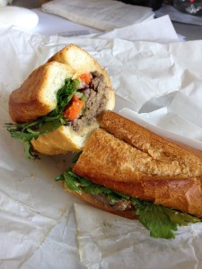 Hero of the story · Banh mi Vietnamese sandwiches, the main menu item at Hero Shop, are typically filled with beef, chicken or pork, cilantro, daikon, peppers and pickled carrots.  - Euno Lee | Daily Trojan