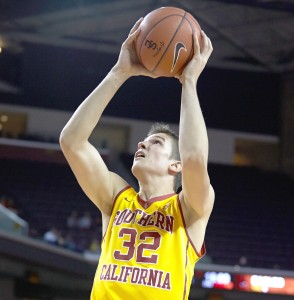 Lights out · Incoming sophomore Nikola Jovanovic played in all 32 games and averaged 8.0 ppg as a true freshman for the Trojans. - Ralf Cheung | Daily Trojan