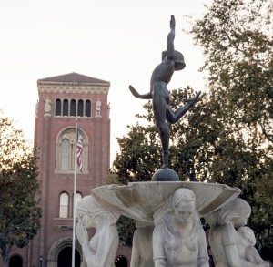 "Restored · ""The Youth Triumphant"" fountain (above) is now almost fully repaired after sustaining significant damages during the annual fountain run — a tradition where seniors attempt to run to all of the campus' 30 fountains. - Ralf Cheung 