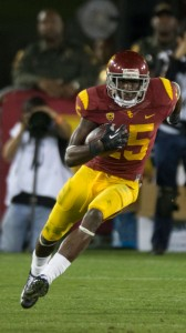 In good hands · Junior wideout Nelson Agholor will be one of six co-captains for USC this season. Agholor led the Trojans with 918 receiving yards and six touchdowns while starting every game in 2013. - Ralf Cheung | Daily Trojan