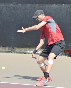 Top dog · Senior Yannick Hanfman is set to take over the top singles spot for USC this season. Hanfmann is the nation's No. 2 singles player. - Daily Trojan File Photo